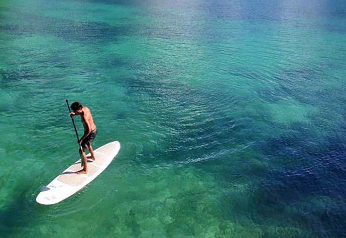 sugba paddle boarding